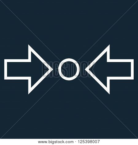 Compress Horizontal vector icon. Style is outline icon symbol, white color, dark blue background.