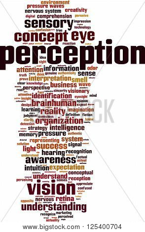 Perception word cloud concept. Vector illustration on white