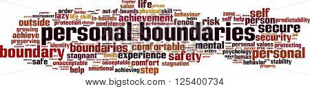 Personal boundaries word cloud concept. Vector illustration