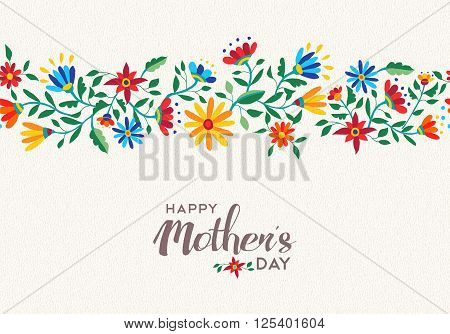 Happy Mothers Day Spring Flower Pattern Background