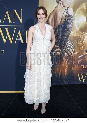 Emily Blunt at the Los Angeles premiere of 'The Huntsman: Winter's War' held at the Regency Village Theatre in Westwood, USA on April 11, 2016.