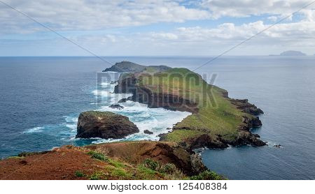 Madeira island landscapes. Eastern tail hiking route. Madeira, Portugal