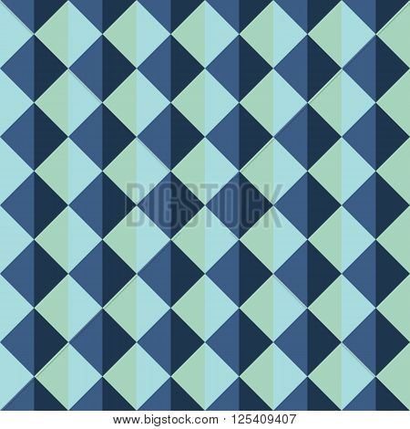 Seamless Pattern Of Triangles With Different Shades Of Blue