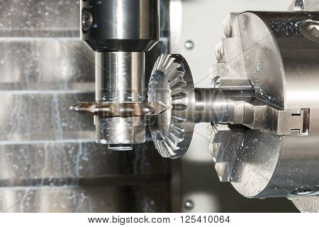 Milling Process Of Metal Detail On Cnc Machine