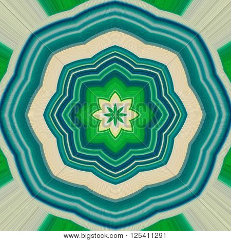 Beautiful bright abstract pattern. Mandala. Ornament. Turquoise blue green.