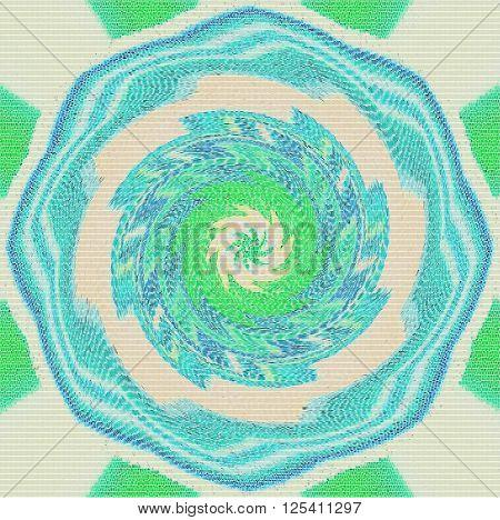 Beautiful bright abstract pattern. Mandala. Ornament. Beautiful bright mandala.