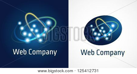 W web company logo. Letter W logo design template, web media technology logo, network digital icon