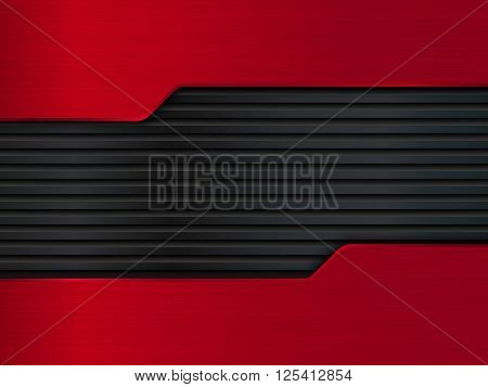 Black and red metal backgrounds, Abstract vector illustration EPS10