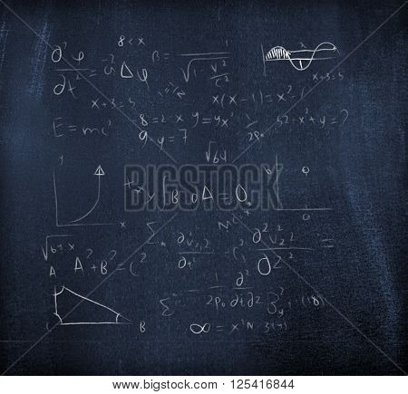 Equation on a blackboard