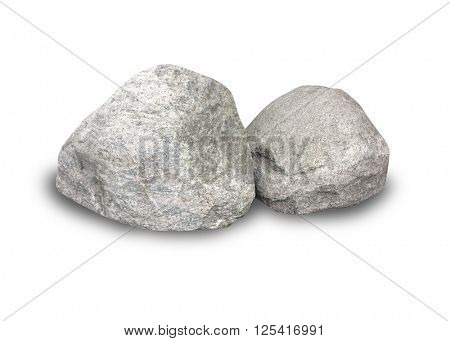Boulders on white