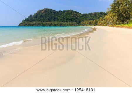 Tropical sea shore of the Bang Bao beach in Ko Kood island, Thailand