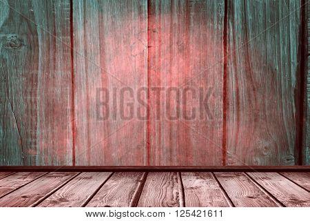 wooden planks against overhead of wooden planks