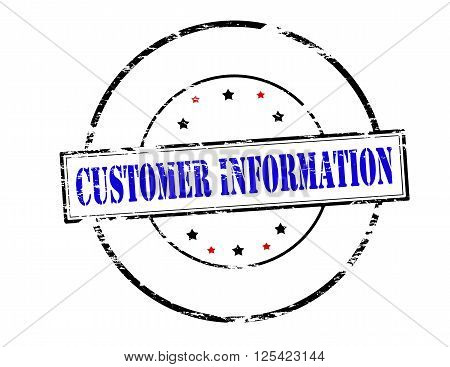 Rubber stamp with text customer information inside vector illustration