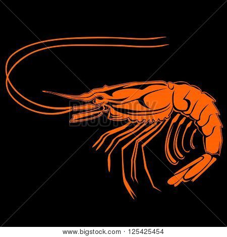 Shrimp Black Orange Logo