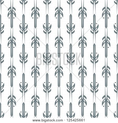 Modern seamless vector illustration with beautiful tracery. Monochrome pattern