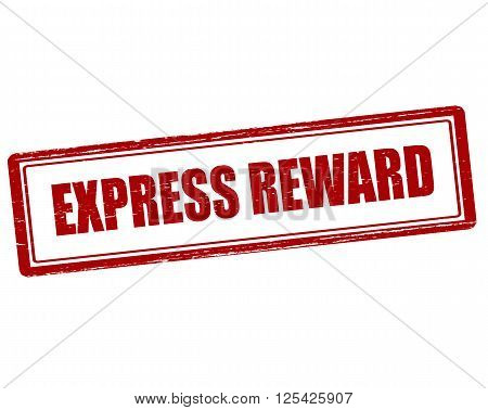 Rubber stamp with text express reward inside vector illustration