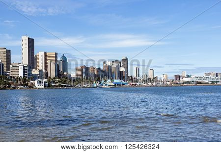 View Of City Skyline From Durban Harbor