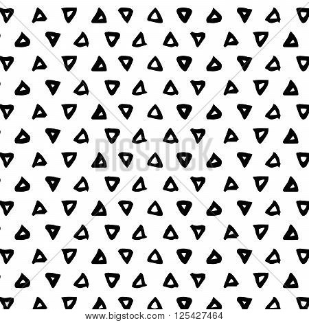 Triangle brush stroke seamless pattern with monochrome herringbone ...