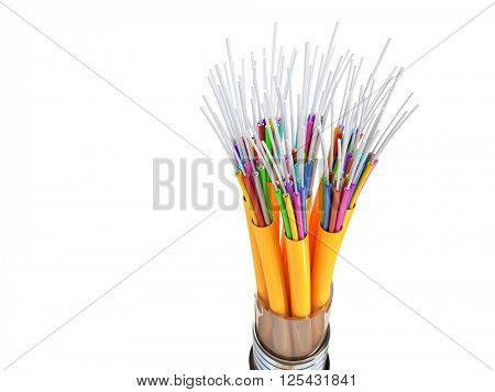 3d image of optical fiber cable