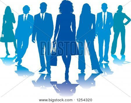 Business People Blue