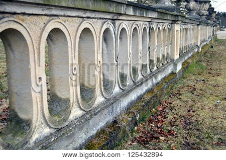 old wall with arches at park sanssouci in potsdam germany