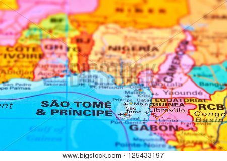 Sao Tome And Principe On The Map