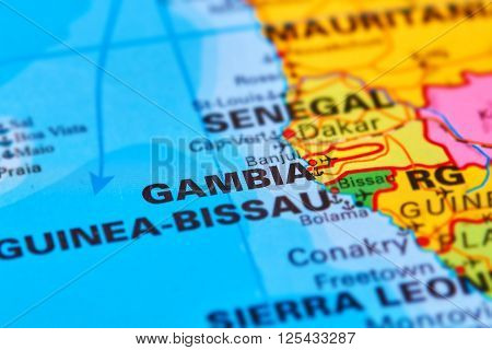 Gambia On The Map