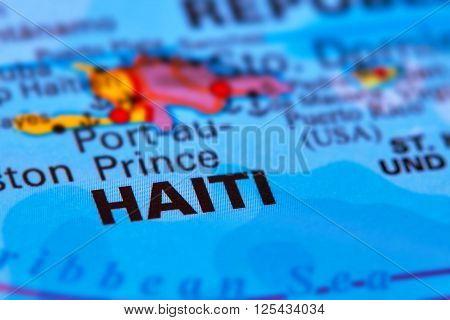 Haiti Caribbean Island On The Map