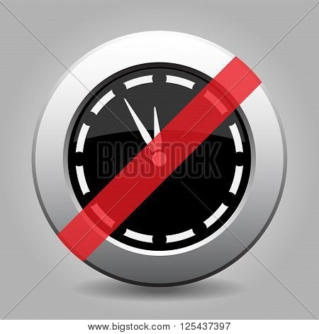 gray chrome button with no last minute clock - banned icon