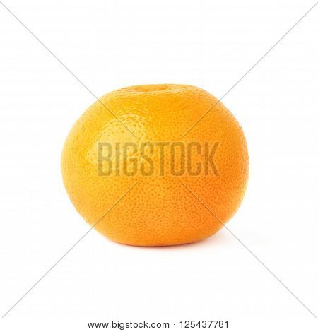 Fresh juicy ripe grapefruit isolated over the white background