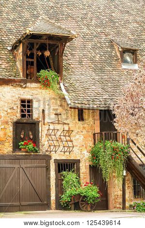 Old historic house in Colmar. Alsace. France.