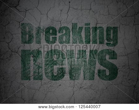 News concept: Breaking News on grunge wall background