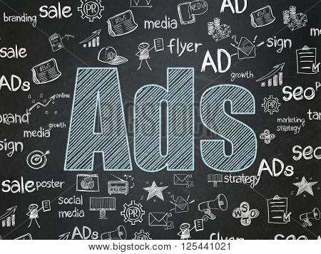 Marketing concept: Ads on School board background