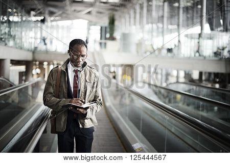 Businessman Travel Alone Departure Concept