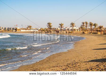 MARSA ALAM, EGYPT, MARCH 31, 2016: Beach of Three Corners Equinox Resort