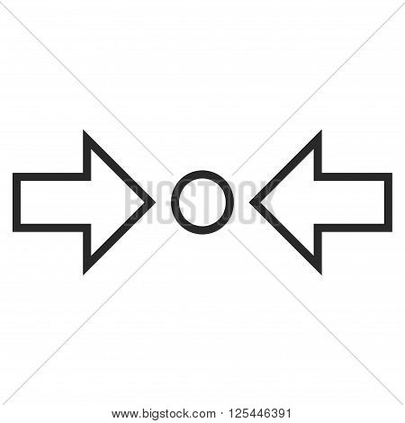 Compress Horizontal vector icon. Style is outline icon symbol, gray color, white background.