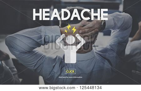 Headache Illness Sick Sad Migraine Concept