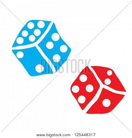 freehand drawn dice illustration