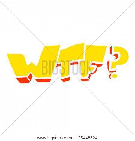 freehand drawn cartoon WTF symbol illustration