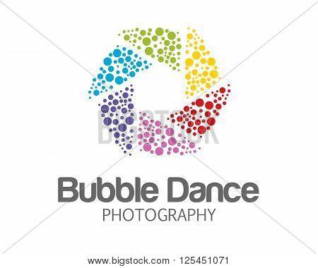 Abstract Photography Logo Design . Hexagonal Loop Symbol Photography Vector. Abstract Colorful Photo