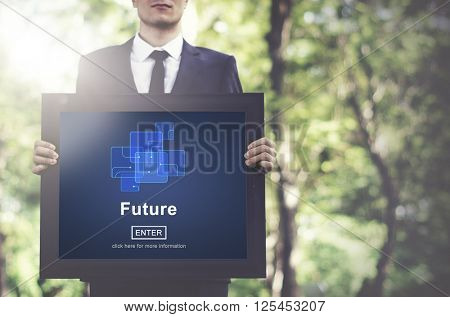 Future Technology Internet Online Concept