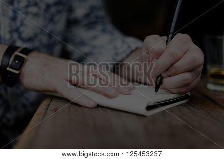 Journalism Memo Writing Author Creativity Inspire Concept