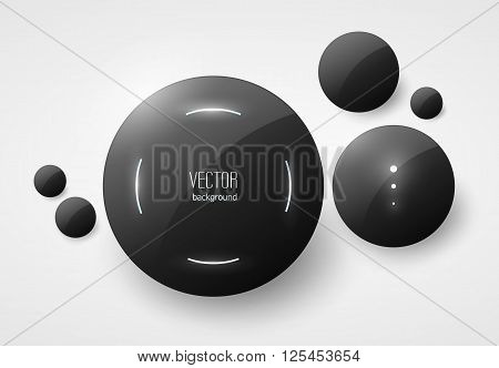 Round Black Glossy Placeholders