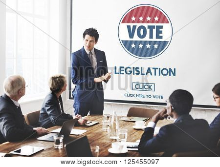 Legislation Law Justice Authority Vote Concept