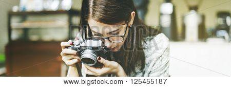 Traveler Photograph Journey Tourist Girl Lady Concept