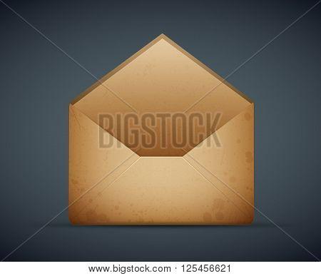 vector of an vintage old envelope eps10 illustration