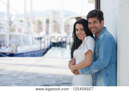 YOUNG COUPLE ON VACATIONS IN LOVE