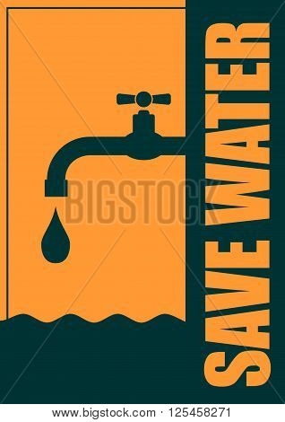 Abstract vector background. Water conservation concept. Ecology Saving