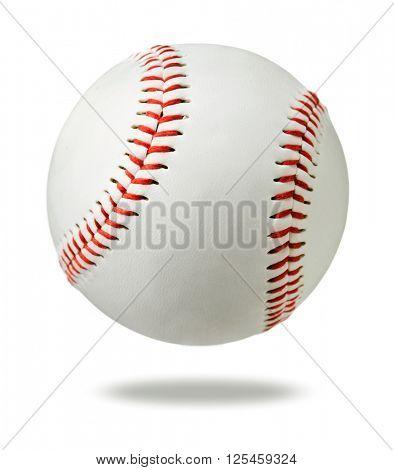 Baseball ball on white background