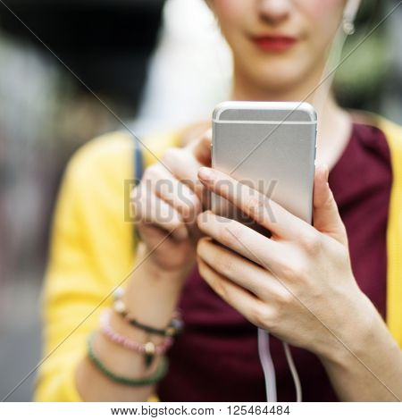 Woman Women Connection Digital Device Internet Concept